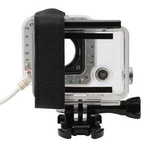 Image 3 - USB 20 LED ملء عدسة حلقة ضوء فلاش الإسكان مصباح ل GoPro بطل 4/3 +