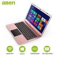 Bben N14W laptop 14.1 Notebook FHD Pre installed Win10 Intel Apollo Lake N3450 quad Cores 4GB RAM 64GB emmc wifi usb3.0 type c