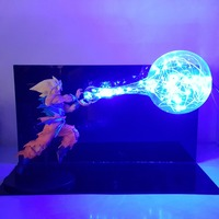 Dragon Ball Z Goku Kamehameha Lamp Night Light Anime Dragon Ball Super LED Decorative Lighting Esferas Del Dragon