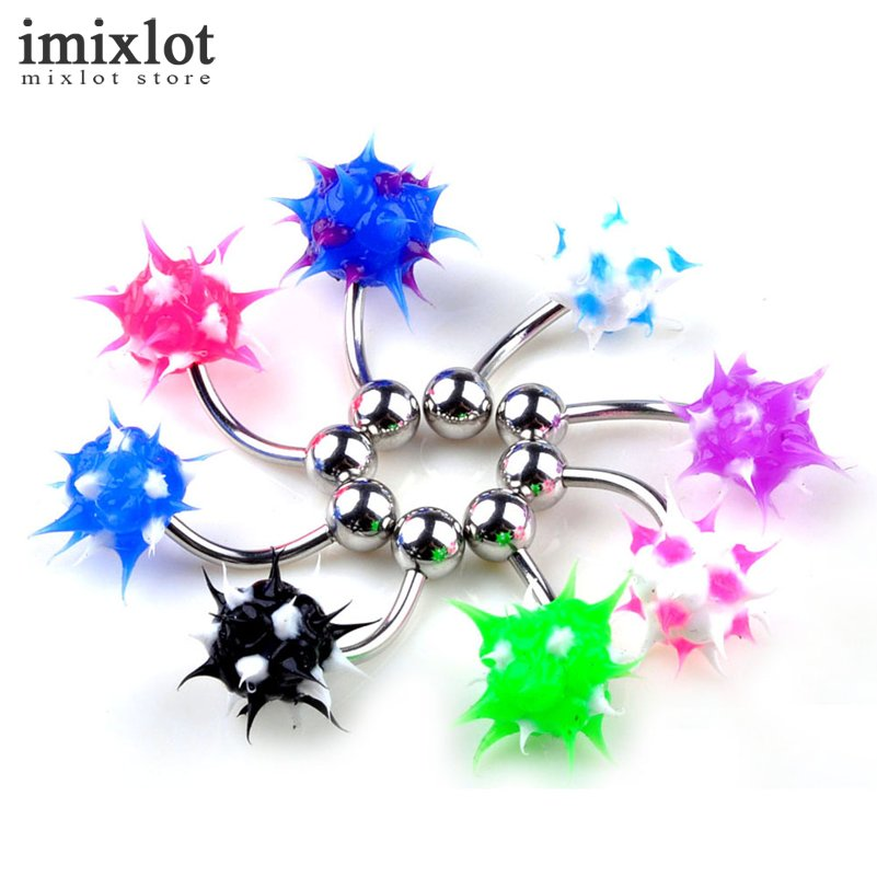 Imixlot 20Pcs Belly Button Ring Body Piercing Jewelry -7414