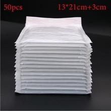 (50 Pieces Of 5 Pieces) / (13 X 21cm + 3cm) White Envelope Paper Cute Baby Gift Envelope Bag