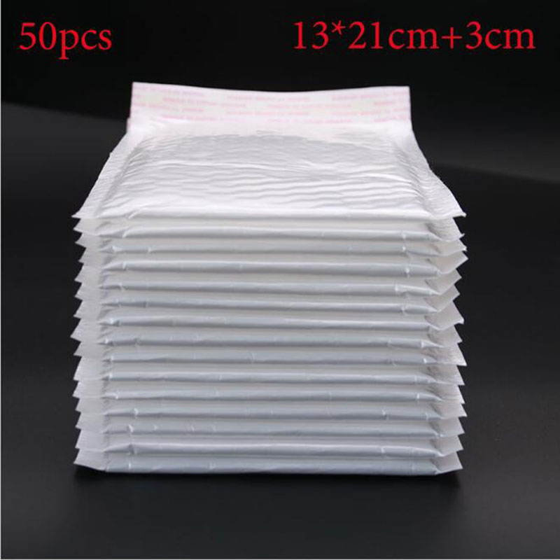 (50pcs/pack) White Envelope Paper Cute Baby Bubble Envelope Bag Bag Decoration Frangible Envelope Bag Gift (13 X 21cm + 3cm)