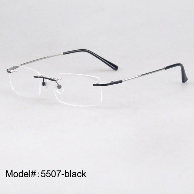 5507 высокая qulity бесплатная доставка полуободковые стилизованный памяти титана по рецепту очки RX оптических оправ