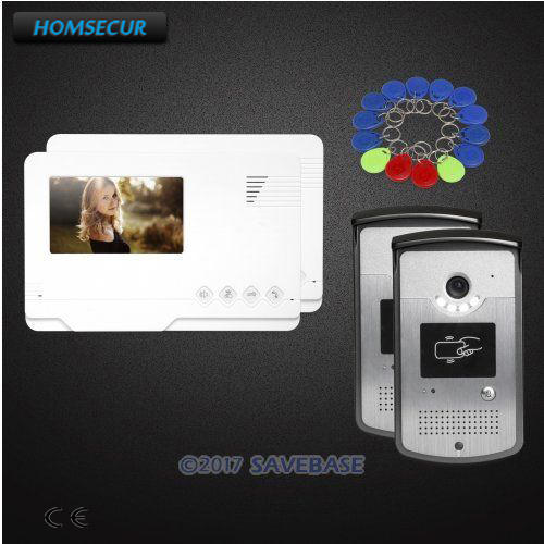 HOMSECUR 2V2 4.3inch Video Door Entry Phone Call System with One Button Unlock for Apartment HOMSECUR 2V2 4.3inch Video Door Entry Phone Call System with One Button Unlock for Apartment