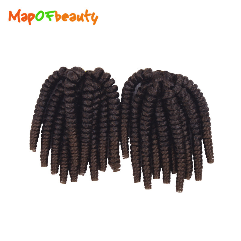 Trustful Mapofbeauty Jamaican Bounce Crochet Braids Hair Extensions 2pcs/set Strands Jumpy Wand Curl Synthetic Ombre Kanekalon Braiding Utmost In Convenience Home