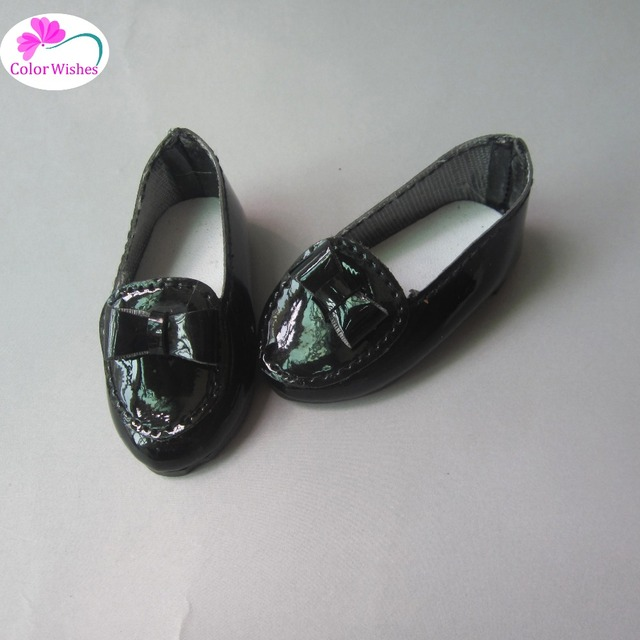 2017 NEW 6.5cm mini Black shiny shoes for dolls fits 1/4 BJD dolls and 40cm salon dolls Accessories