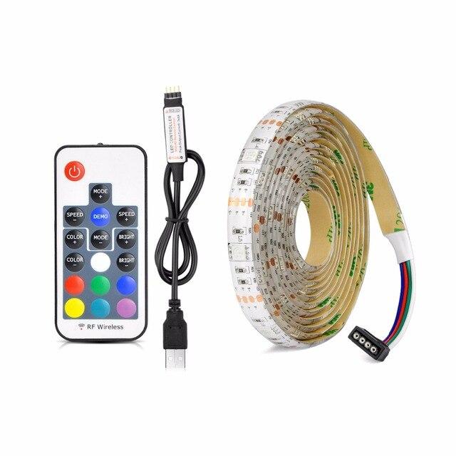 IP20/IP65 1 m 2 m 3 m 4 m 5 m DC 5 V RGB Flexible USB llevó la luz de tira 5050 SMD picadura de Cinta cinta Adhesiva de TELEVISIÓN de Fondo iluminación