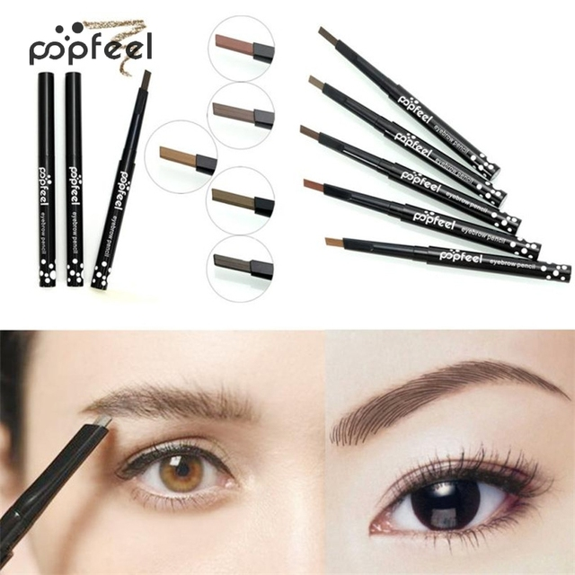 Popfeel Pro Women Makeup Single-head Rotary Brake Eyebrow Lasting Waterproof Not Blooming Easy To Color 1