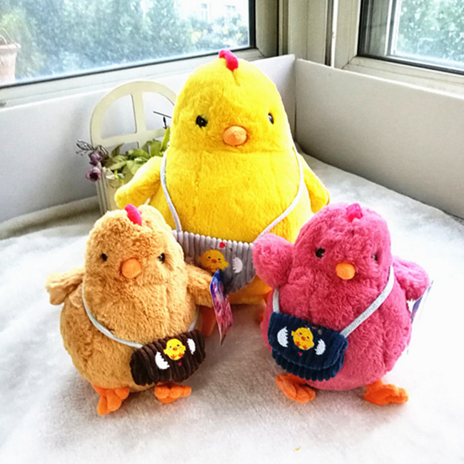 22cm backpack chick stuffed doll, yellow chicken plush toys wedding birthday gift 60cm dolphin lovely chicken colorful plush toys birthday chick stuffed doll blue or pink whale gift stuffing toy c38