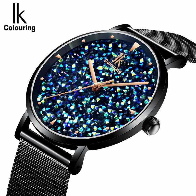 Роскошные женские часы с магнитным циферблатом, женские кварцевые часы с ремешком из водонепроницаемой стали, подарок для девушек