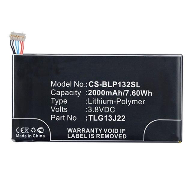 Free shipping high quality mobile phone battery TLG13J22/TLG13J24/Darkfull for BLU/Wiko BLU L132L  Life ONE X Wiko  Darkfull