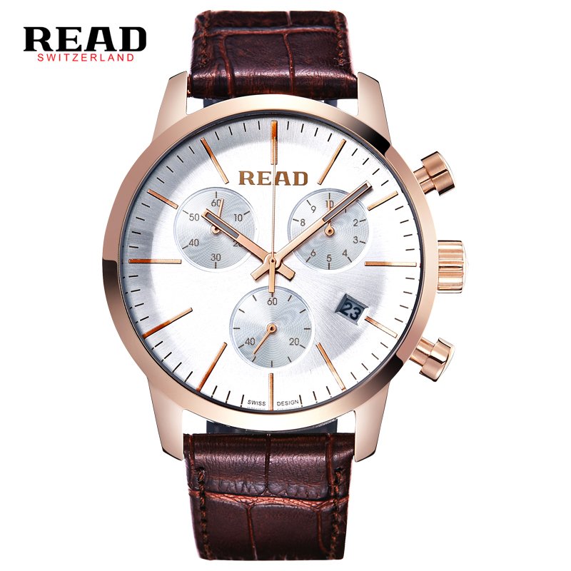 Watches Men Luxury Top Brand READ New Fashion Men's Big Dial Designer Quartz Watch Male Wristwatch relogio masculino relojes leather watches men luxury top brand grady new fashion men s designer quartz watch male wristwatch relogio masculino relojes
