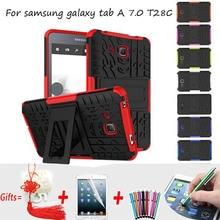 Funda de silicona para Samsung Galaxy Tab 7 Cubierta Armor Híbrido Pata de Cabra Caso duro de La Cubierta para Samsung Galaxy Tab 7.0 Caso T285 T280
