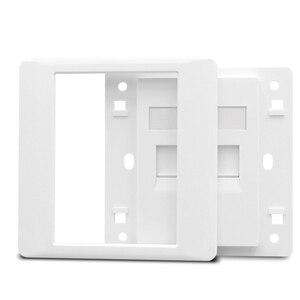 Image 4 - 2 Ports CAT6 RJ45 Internet Frontplatte LAN Anschluss Für Gigabit N Wand Panel Weiß Farbe