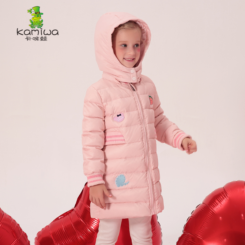 KAMIWA 2018 Embroidery Fruit Girls Winter Coats And Jackets Kids Outwear Down Jacket Clothes Parkas Children Baby Girls Clothing kamiwa 2018 cotton padded girls winter coats and jackets hooded thick long kids outwear warm clothes parkas baby girls clothing