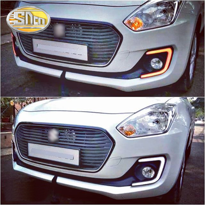 SNCN 2PCS LED Daytime Running Light For Suzuki Swift 2017 2018 2019 Car Accessories Waterproof 12V DRL Fog Lamp Decoration sncn 2pcs led daytime running light for nissan sentra 2013 2014 2015 car accessories waterproof abs 12v drl fog lamp decoration