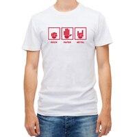2017 Fashion Rock Paper Metal T Shirt Heavy Metal Hip Hop T Shirts Men S Cotton