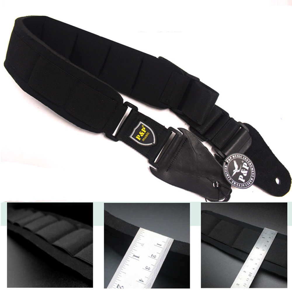 High-grade Sponge Pads Rock Guitar Strap Electric Guitar Acoustic Guitar Folk Guitar Bass Strap warp knitting classical guitar strap acoustic electric guitar strap extreme well