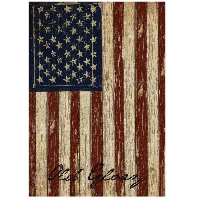 125 X 18 Stripes Old Patriotic Garden House Vintage USA American Flag Home Room