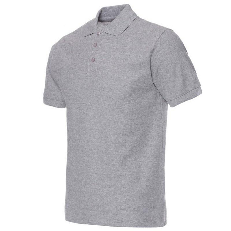 2018 Homens Camisa Polo Da Marca Dos Homens Camisas Pólo Cor Sólida Camisa  Masculina Ocasional dos homens do Algodão de Manga Curta Polos Hombre  jerseys 58c0576d501f9