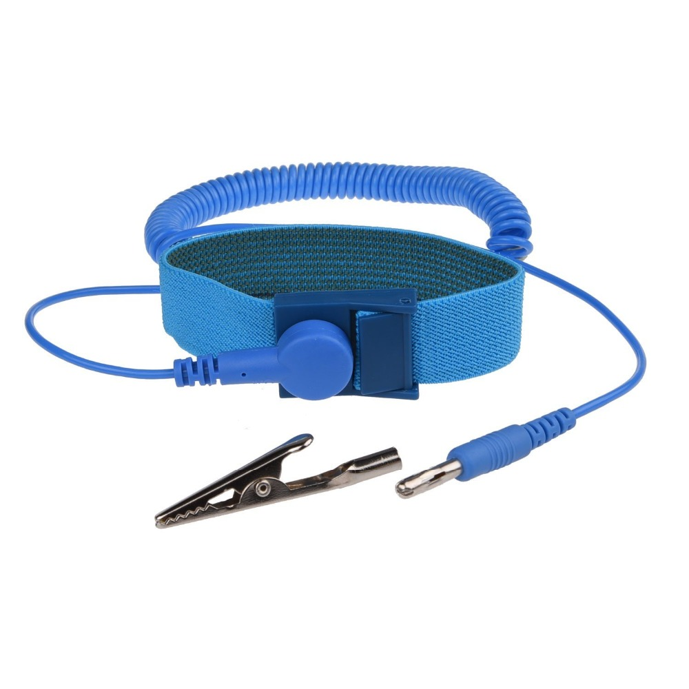 Adjustable Anti Static Bracelet Electrostatic ESD Discharge Cable Reusable Wrist Band Strap Hand With Grounding Wire adjustable anti static bracelet electrostatic esd discharge cable reusable wrist band strap hand with grounding wire