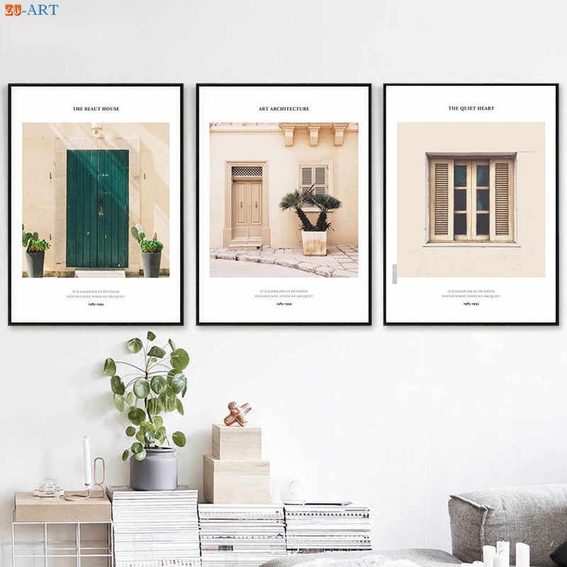 Architecture Print Summer Poster Canvas Painting Pastel Wall Art Nordic Decoration Pictures San Diego Wall Decor No Frame