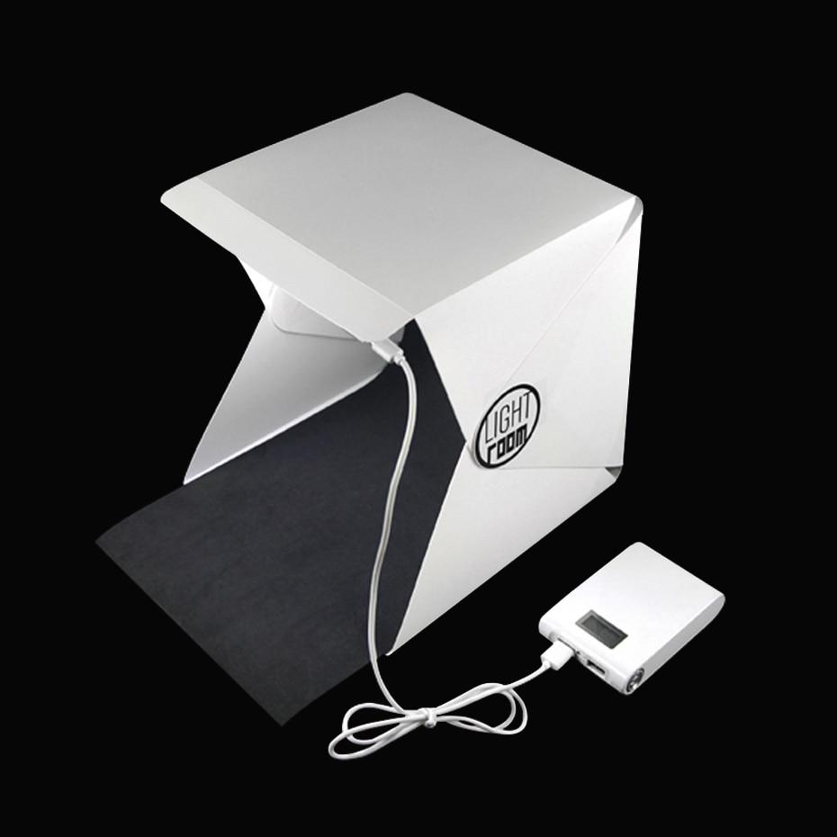 купить Photography Lightbox Portable Light Room Foldable Photo Studio Photography Backdrop Mini Box Lighting Tent Kit USB Cable недорого