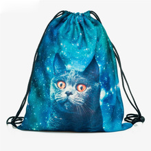 New Fashion Women Harajuku Cat Backpack 3D printing travel softback Women Drawstring Bags School girls backpacks unisex backpacks men women drawstring backpack bags cool shoes burger printed casual softback shopping travel drawstring bag