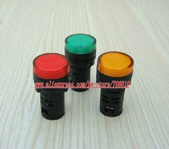 10pcs 22mm LED Indicator Signal Ligh AD16-22DS (Choice of operating voltage),&Free Shipping