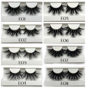 Image 3 - Mikiwi 25mm 3D Mink Lashes E04 100% Cruelty free Thick soft Natural 25mm Mink Lashes False Eyelashes Makeup Dramatic Long Lashes