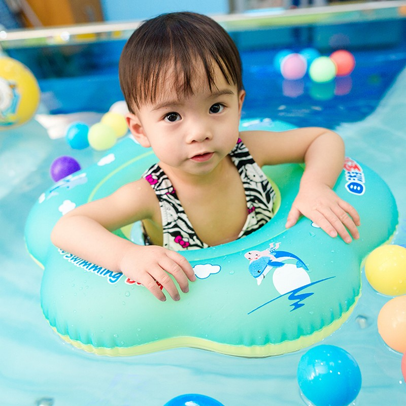 Baby Swimming Ring Inflatable Swimming Pool Accessories Neutral Cute Baby Armpit Floating Circle Bathing Inflatable Raft