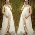 2016 new elegant Gown Gauze Studio Maternity Photography Props Pregnant Women Long Dress Photo Shoot Fancy costume