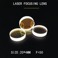 Weimeng 10 pieces 20*4mm F=50 LASER FOCUS LENS JGS1 QUARTZ 1064nm AR Plano convex shape optical glass for laser cutting machine
