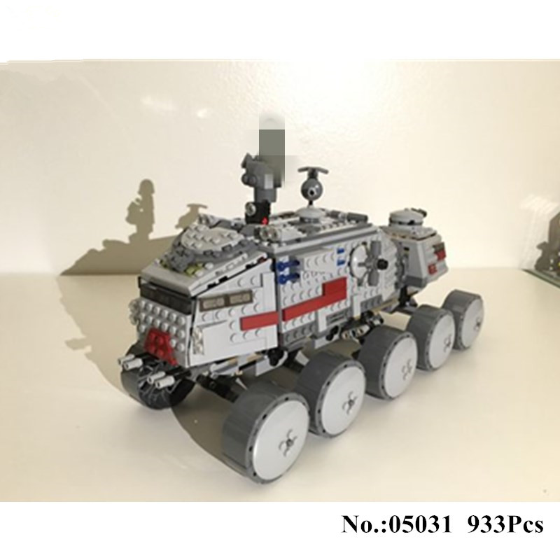 H&HXY 933Pcs 05031 Star Series War Clone Turbo Tank Building Blocks Compatible with 75151 Boys DIY Child Toys Gifts lepin