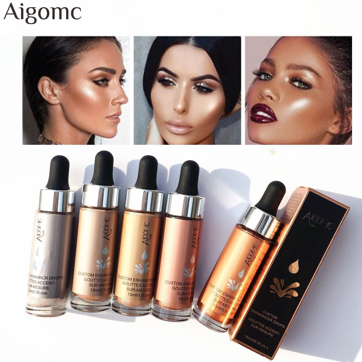 Concealer Lasting Brightening Liquid Three-dimensional Face Repair Capability Of High Liquid Light 6 Color Optional Makeup