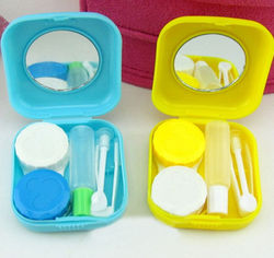 Small Candy Colors With Mirror Contact Lens Case Holder Container Retail Eyewear Glasses Storage