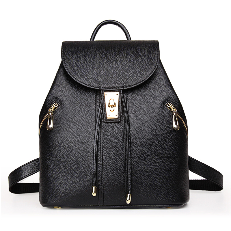 Women Backpack High Quality Leather Mochila Escolar School Bags For Teenagers Girls Top-handle Backpacks Herald Fashion