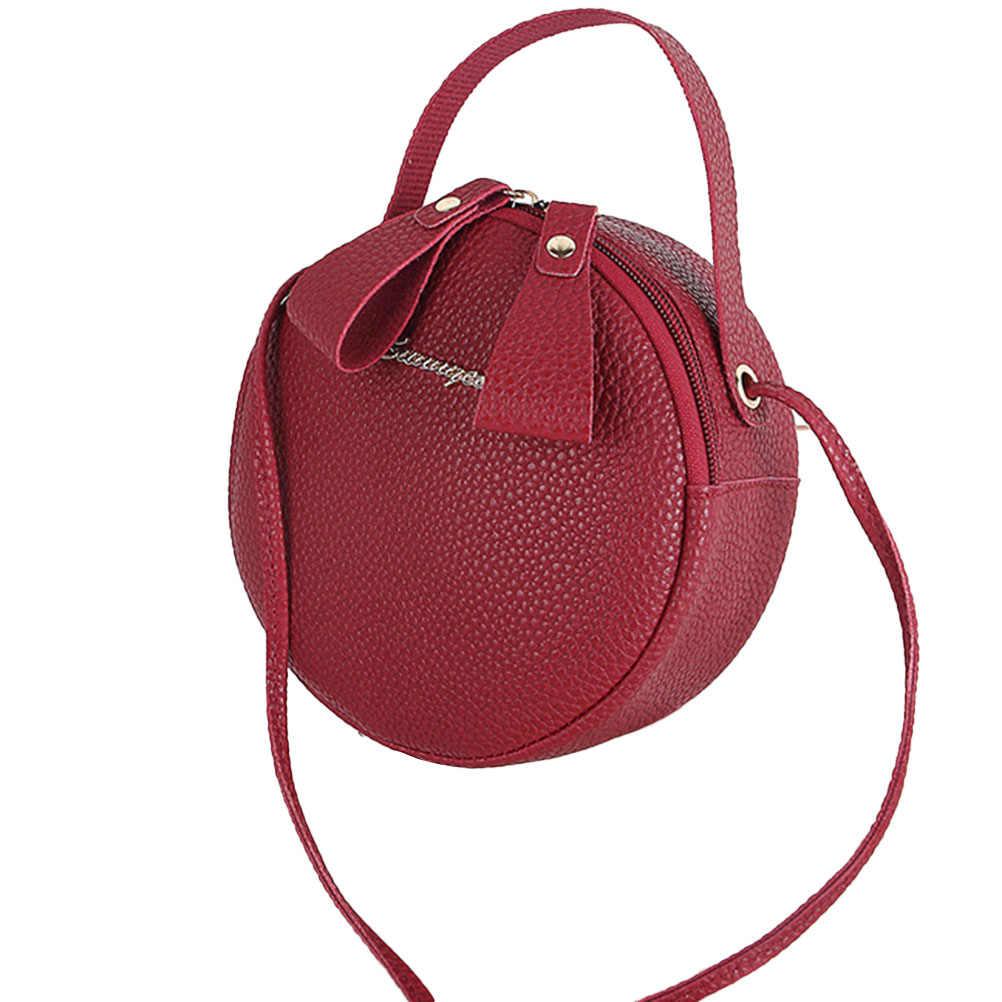 Conception circulaire mode femmes sac à bandoulière en cuir femmes bandoulière sacs de messager dames sac à main femme ronde Bolsa sac à main