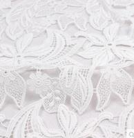 5yards Embroidery Champagne Polyester Light Water Soluble Lace Fabric Heavy Dress Evening Dress Fabric