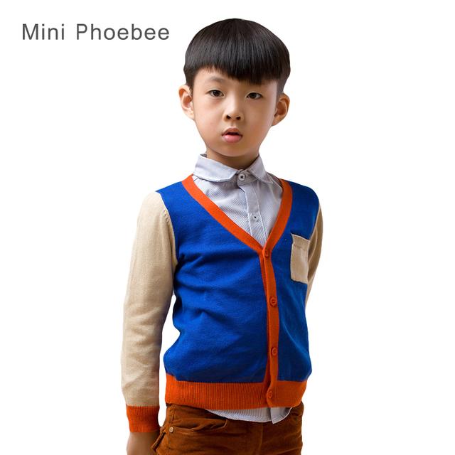 Meninos suéter de tricô padrão de 2-8 anos de algodão azul de outono marca casaco de lã crianças meninos blazer crianças cardigan para meninos malha cardigan infantil cardigan infantil menino camisola menino camisola
