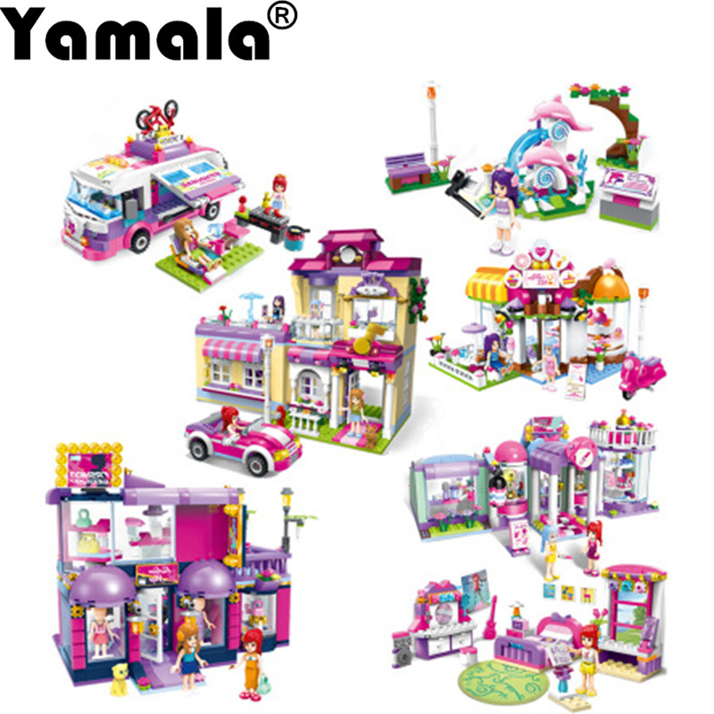 [Yamala] Bela Friends Series  House Building Blocks Compatible with Legoe Friends Andrea mini-doll figures Toy