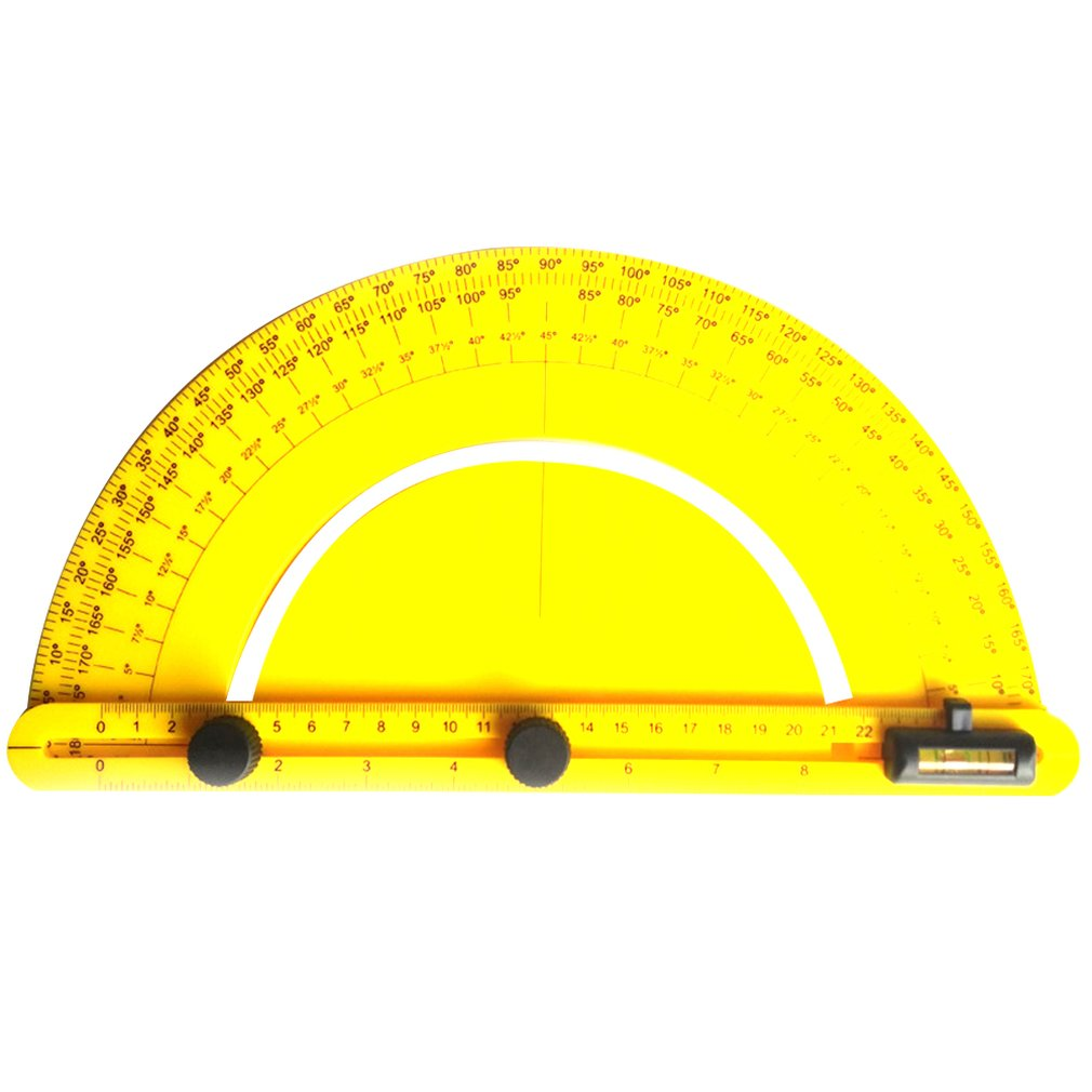 Multi Angle Ruler Finder Plastic 180 Degree Protractor For Builder Carpenter Craftsman And Engineer Large Size