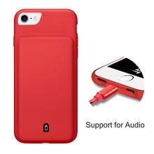 Новый аудио адаптер внешнего Мощность Bank Pack резервной батареи Зарядное устройство чехол для iPhone 6 6S 7 Plus аудио Вход крышка зарядки 2 в 1