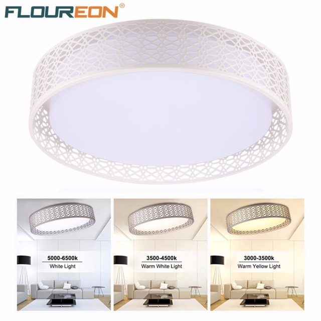 Floureon 24w Round Led Ceiling Light With 2 4g Wireless Remote Control Infinite Dimming Widely