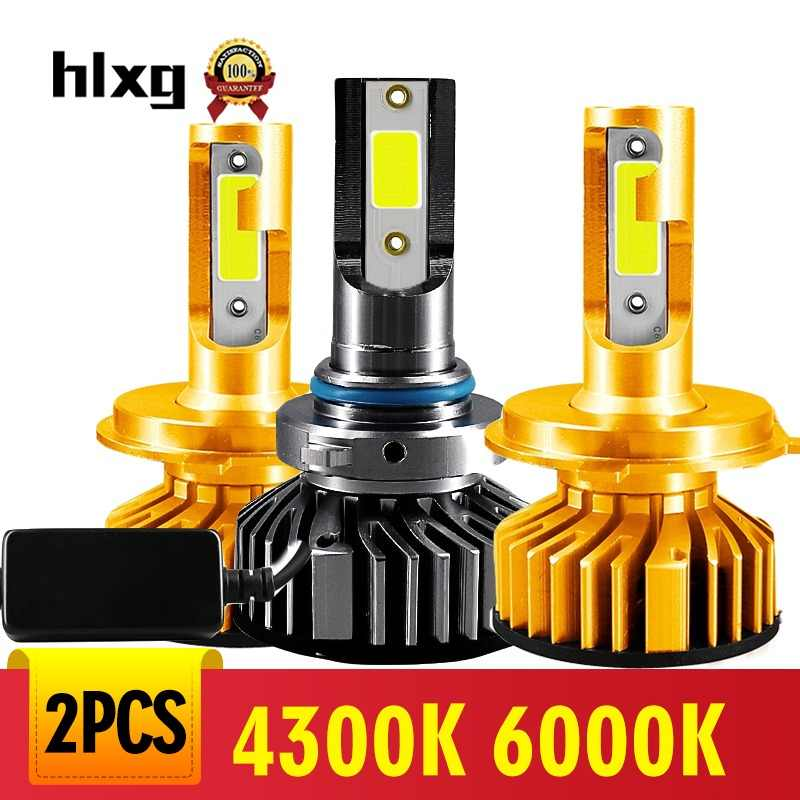 Hlxg H1 Led H7 Canbus H4 H11 H8 6000K Mini Car Headlight Bulb 10000LM Auto H3 9005 HB3 9006 HB4 4300K LED 5000K 12V Automobiles