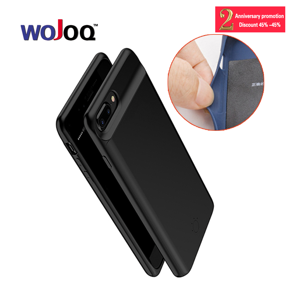 WOJOQ Charger Case For iPhone 7 6 6s Plus 5000/7200mAh Power Bank Case Ultra Slim External Backup Battery Charging Case Cover