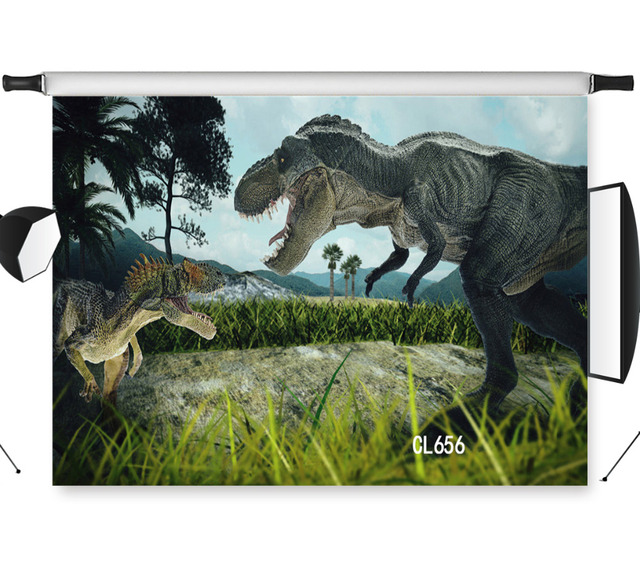 lb vinyl photography dinosaur scene two dinosaurs fighting