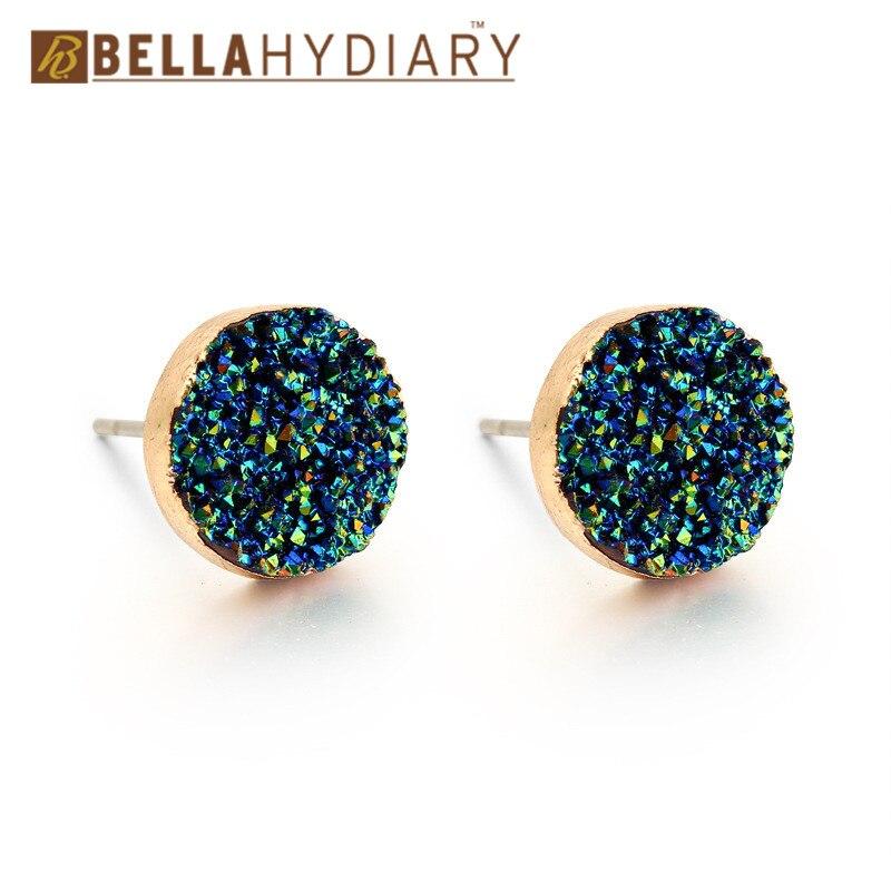 Bijoux European Female Ear Studs Star Crescent Earings For Women Jewelry Resin Stud Earrings Gift Boho Earing Mujer Moda 2019
