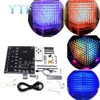 8x8x8 3D LED LightSquared DIY Kit Weiß LED Blau oder Grün oder Rot Ray 5mm LED Cube Elektronische Suite 5V netzteil