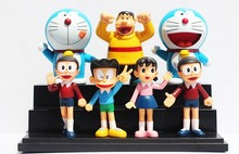 7pcs/Set New Arrival Classic Anime Cute Doraemon Figures Toys PVC Doll
